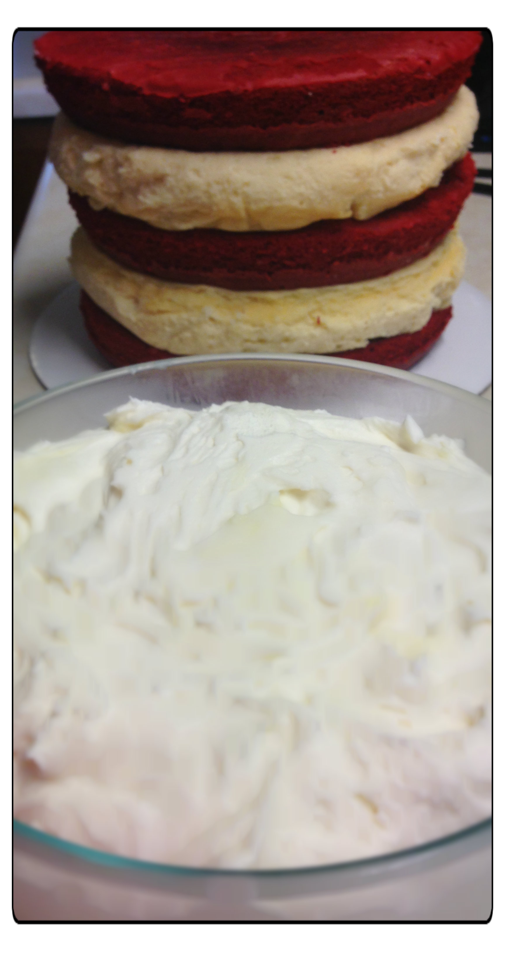 Red Velvet Cheescake Layer Cake Diagnosably Delicious