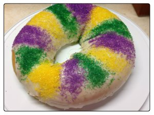 king cake sugared